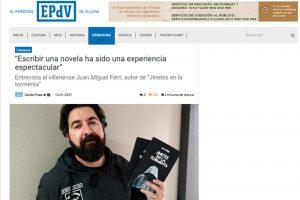Entrevista en el Periódico de Villena - Jinetes en la Tormenta
