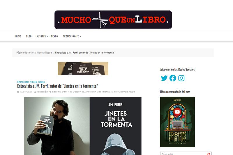 entrevista MUCHO MÁS QUE UN LIBRO