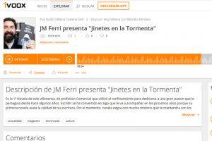 Cadena SER Villena - entrevista Jinetes en la Tormenta